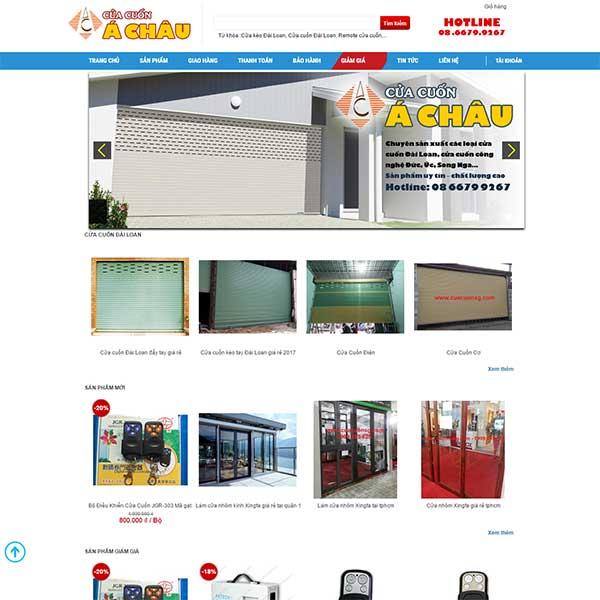 Mẫu Website Bán Của Cuốn Á Châu WBT 1112