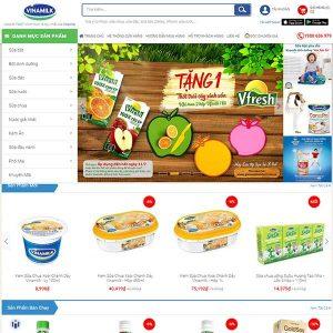 Mẫu Website Bán Hàng Của Công Ty Sữa Vinamilk WBT1083