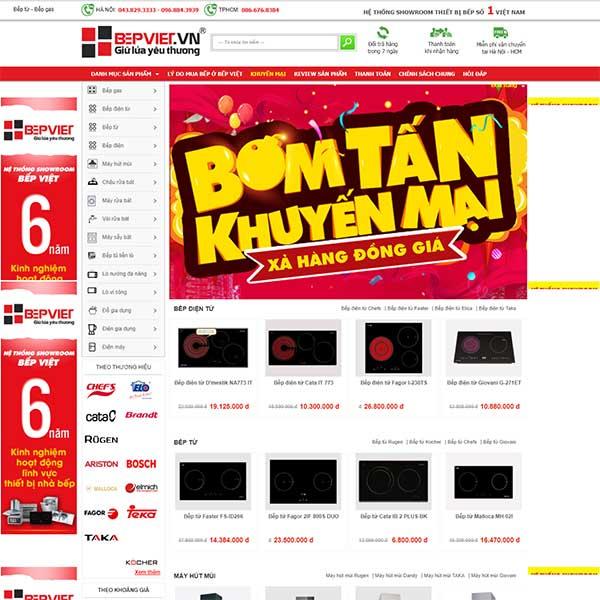 Mẫu Website Bán Thiết Bị Nhà Bếp WBT1124