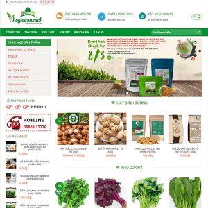 Mẫu Website Nông Sản Chè Xanh Thái Nguyên WBT1079
