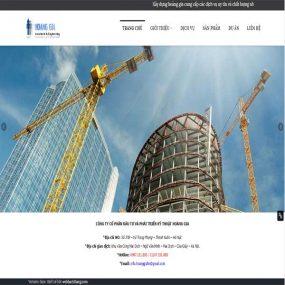 Mẫu Website Công Ty Kỹ Thuật Xây Dựng Hoàng Gia WBT1114