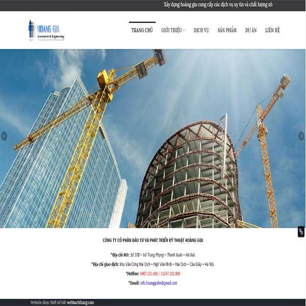 Mẫu Website Công Ty Kỹ Thuật Xây Dựng WBT1114
