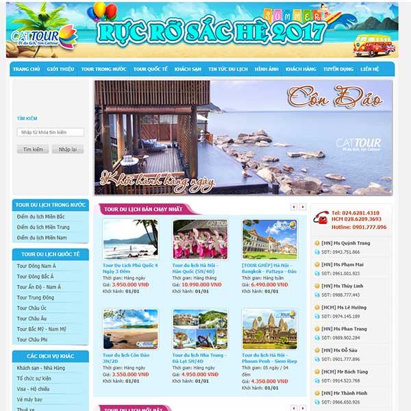 Mẫu Website Du Lịch đẹp Chuyên Nghiệp WBT1118