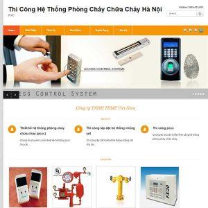 Mẫu Website Sản Phẩm Phòng Cháy Chữa Cháy WBT1090