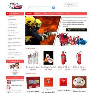 Mẫu Website Thiết Bị Phòng Cháy Chữa Cháy WBT1089