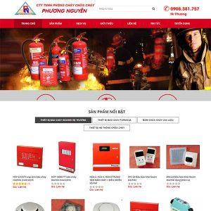 Mẫu Website Thiết Bị Phòng Cháy Chữa Cháy WBT1086
