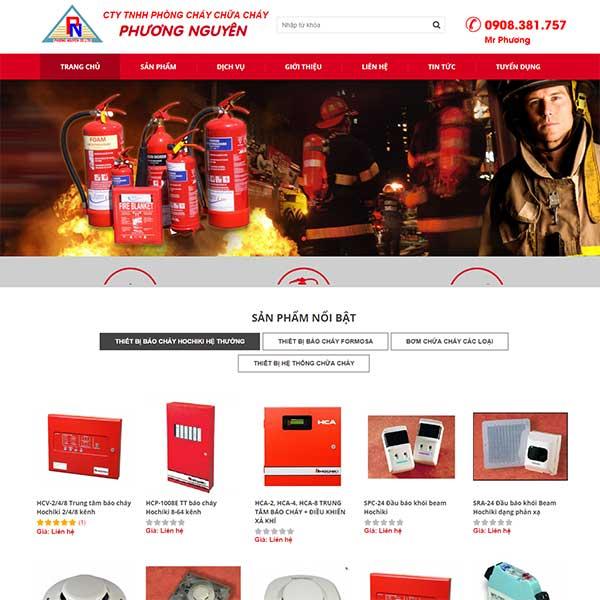 Mẫu Thiết kế website bán thiết bị phòng cháy chữa cháy