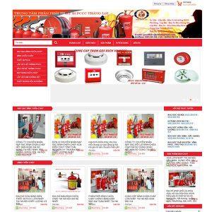 Mẫu Website Thiết Kế Bảo Trì Hệ Thống Phòng Cháy Chữa Cháy WBT1092