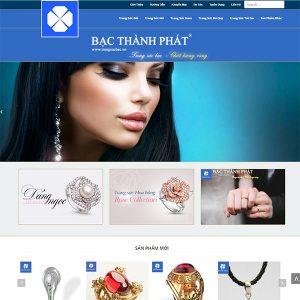 Mẫu Website Trang Sức Bạc đẹp Cao Cấp WBT1082