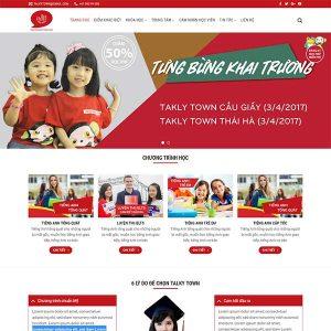 Mẫu Website Trường Học – Du Học – Trung Tâm Dạy Học WBT1080