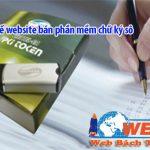 Thiết kế website bán phần mềm chữ ký số chuyên nghiệp giá tốt
