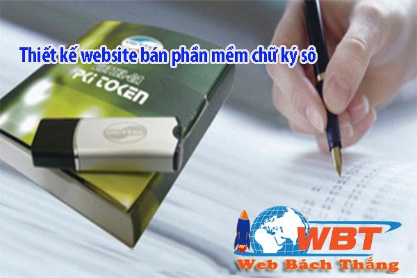 làm website bán phần mềm chữ ký số