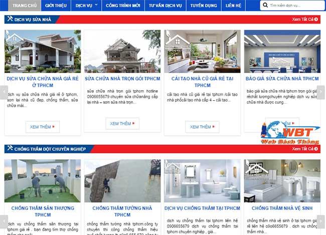Làm website sơn nhà