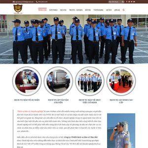 Mẫu Website An Ninh Bảo Vệ Tâm Đức Security WBT1101