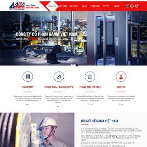 Mẫu Website Bán Thang Máy Thi Công Lắp đặt Công Ty Doanh Nghiệp WBT169