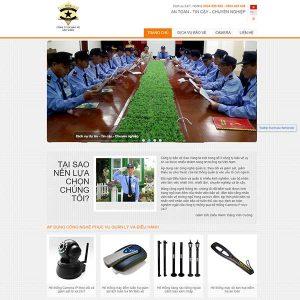 Mẫu Website Dịch Vụ Bảo Vệ Chuyên Nghiệp Nam Phú WBT1105