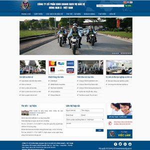 Mẫu Website Dịch Vụ Bảo Vệ Đông Nam Á – Việt Nam WBT1107