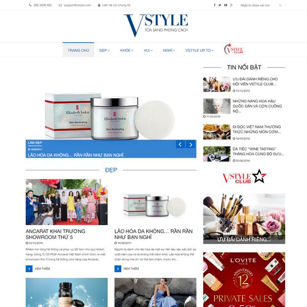 Mẫu Website Giới Thiệu Thương Hiệu Dạng Tin Tức WBT171