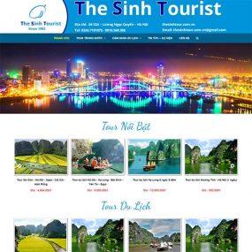 Mẫu Website Du Lịch Chuyên Nghiệp, Hiện đại WBT168