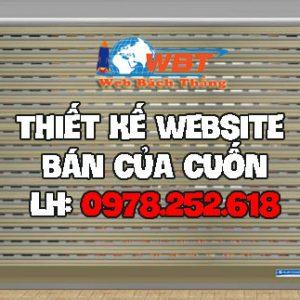 Thiết Kế Website Bán Cửa Cuốn