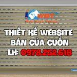 Thiết kế website bán cửa cuốn nhôm kính cao cấp chuyên nghiệp.