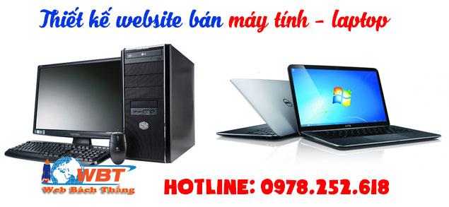 THiết kế website bán máy tính laptop