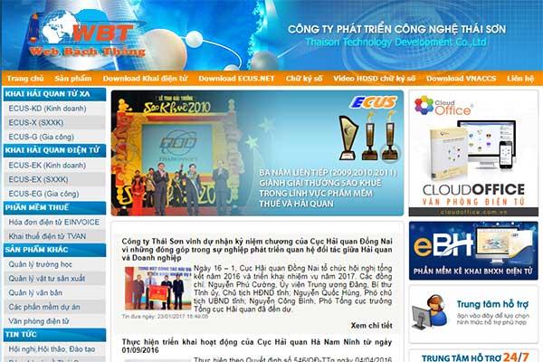 Thiết kế website bán phần mềm chữ ký số