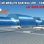 Thiết kế website bán tấm lợp – mái tôn – fibro xi măng chuyên nghiệp