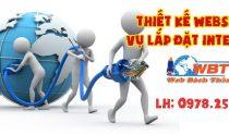 Thiết Kế Website Dịch Vụ Lắp đặt Internet