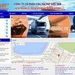 Thiết kế website dịch vụ vận tải chuyên nghiệp hiện đại giá rẻ