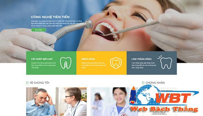 thiết kế website phòng khám nha khoa đẹp mắt