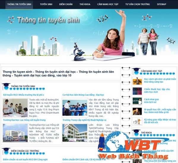 Thiết kế website tuyển sinh trực tuyến