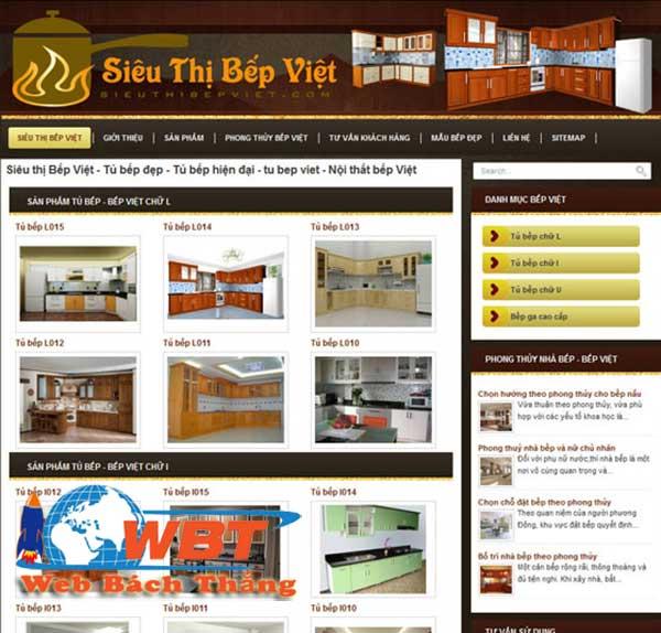 Website bán tủ bếp