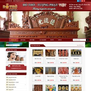 Mẫu Website Tượng Phật đồ Thờ Việt WBT 1126