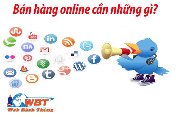 Bán hàng online cần những gì