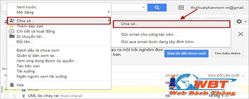 cách chia sẻ trên google drive