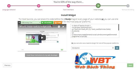 Cách cài phần mềm Chat online cho website bằng tawk.to