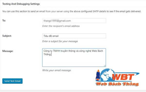 Hướng dẫn cấu hình SMTP của gmail cho website wordpress 12