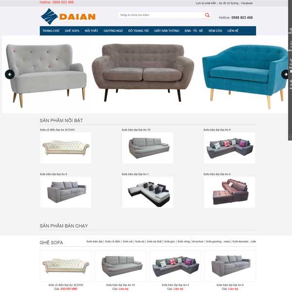 Mẫu Website Bán đồ Nội Thất WBT177