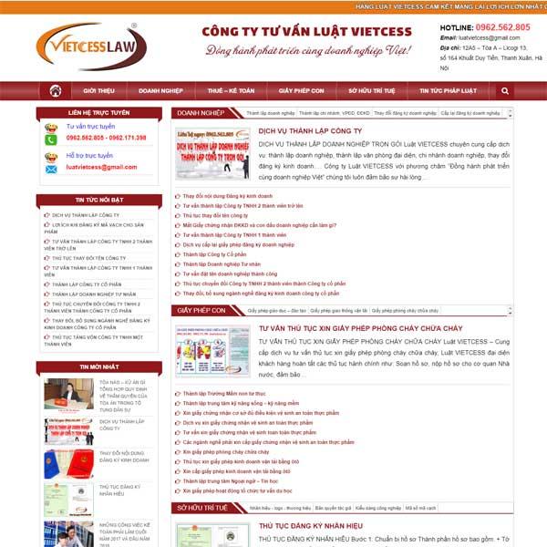Mẫu Website Công Ty Luật WBT178