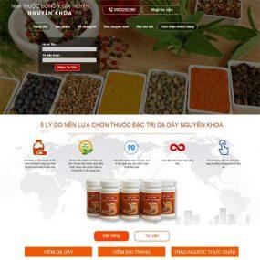 Mẫu Website Nhà Thuốc đông Y Gia Truyền WBT172