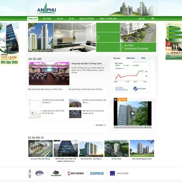 Mẫu Website Tập đoàn An Phú WBT176
