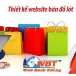 Thiết Kế Web Shop Bán đồ Lót