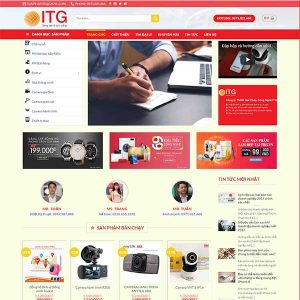 Mẫu Website Bán đồ Công Nghệ ITG WBT1127