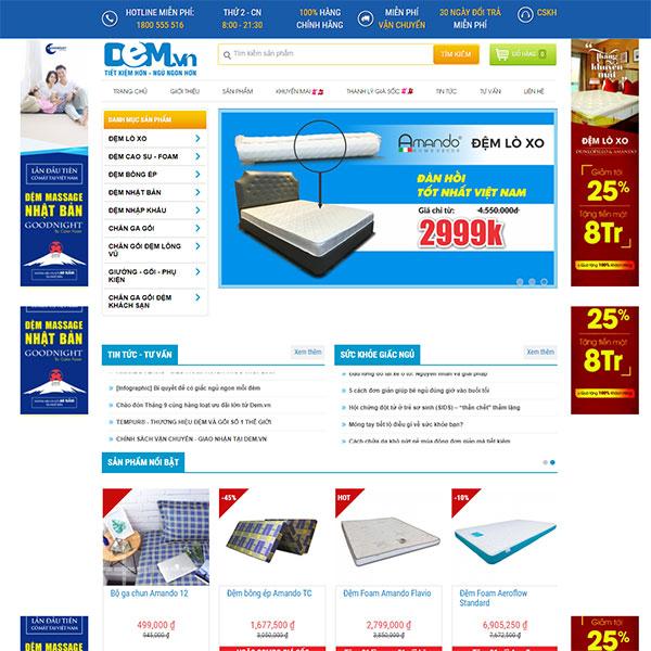 Mẫu Website Thương Hiệu Lớn Dem.vn WBT1137
