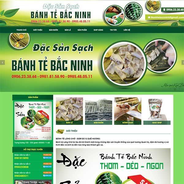 Mẫu Website đặc Sản Bánh Tẻ Bắc Ninh WBT 1134