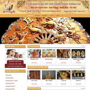 Mẫu Website đồ Thờ Tượng Phật Thông Hà WBT1129