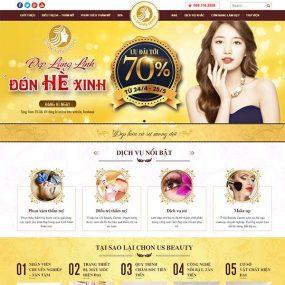 Mẫu Website Thẩm Mỹ – Spa – Nail – Công Nghệ Cao WBT1132