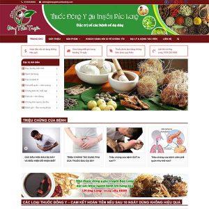 Mẫu Website Thuốc đông Y Gia Truyền Bảo Long WBT1128