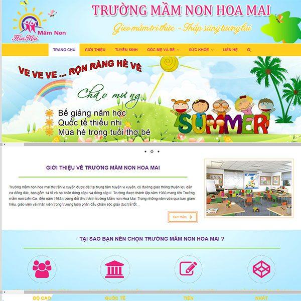 Mẫu Website Trường Mầm Non Hoa Mai WBT1139